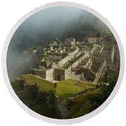 Machu Picchu Peru 2 Round Beach Towel