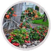 Mackinac Island Garden Round Beach Towel