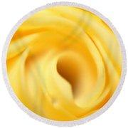 Macro Yellow Rose Round Beach Towel