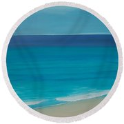 Round Beach Towel featuring the painting Madagascar by Mini Arora