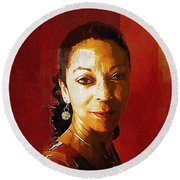 Madame Exotic Round Beach Towel by RC deWinter