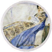 Madame Monet Reading Round Beach Towel