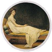 Madame Recamier Round Beach Towel