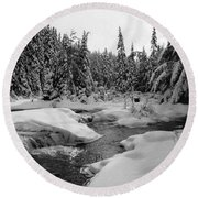 Madawaska River Round Beach Towel