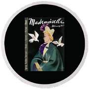 Mademoiselle Cover Featuring A Model In A Green Round Beach Towel