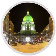Madison Capitol Round Beach Towel