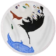 Madonna True Blue Round Beach Towel