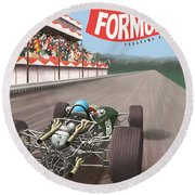 Madrid Grand Prix 1968 Round Beach Towel