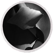 Madrona Bark Black And White Round Beach Towel