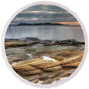 Madrona Sunrise Round Beach Towel