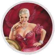Mae West Round Beach Towel