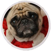 Maggie Girl Round Beach Towel