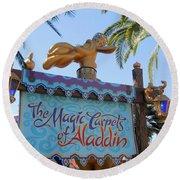 Magic Carpet Ride Round Beach Towel