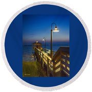 Magic Hour Round Beach Towel