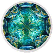 Magic Mark Round Beach Towel by Anastasiya Malakhova