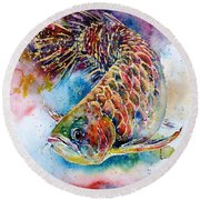 Magic Of Arowana Round Beach Towel