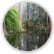 Magical Cypress Swamp Round Beach Towel