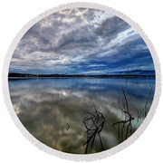 Magical Lake Round Beach Towel