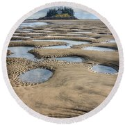 Round Beach Towel featuring the photograph Magical Maine by Tammy Wetzel