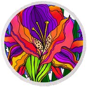 Magical Mystery Garden Round Beach Towel