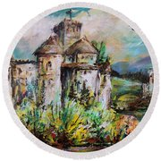 Magical Palace Round Beach Towel