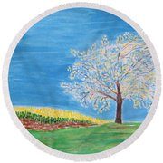 Magical Wish Tree Round Beach Towel