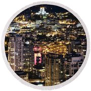 Round Beach Towel featuring the photograph Magical Yaletown Harbor Mdxlix by Amyn Nasser