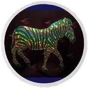 Magical Zebra  Round Beach Towel