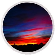 Round Beach Towel featuring the photograph Magnetic Dawn by Mark Blauhoefer