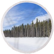 Magnetic North Round Beach Towel