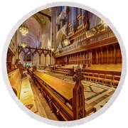 Magnificent Cathedral I Round Beach Towel