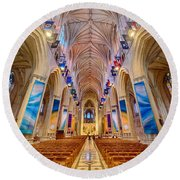 Magnificent Cathedral II Round Beach Towel