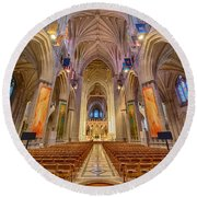 Magnificent Cathedral V Round Beach Towel