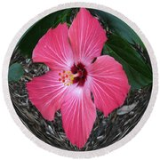 Magnificent Flower Round Beach Towel by Oksana Semenchenko