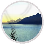 Magnificent Howe Sound Round Beach Towel