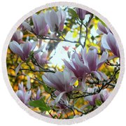 Magnolia Maidens Round Beach Towel by Leanne Seymour