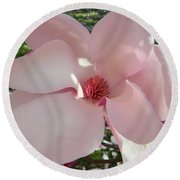 Magnolia Surprise Round Beach Towel by Emmy Marie Vickers
