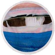 Magpie Original Painting Round Beach Towel