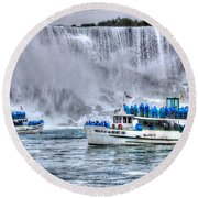 Maid Of The Mist Round Beach Towel by Bianca Nadeau