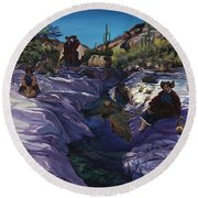 Maiden Pools Round Beach Towel