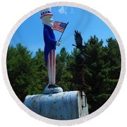 Mail For Uncle Sam Round Beach Towel