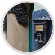 Mailbox At Bulgakov House Museum Round Beach Towel
