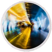 Round Beach Towel featuring the photograph Main Access Tunnel Nyryx Station by Alex Lapidus