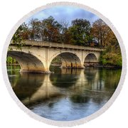 Main St Bridge Round Beach Towel