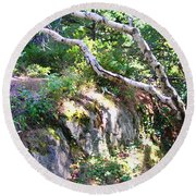 Maine Round Beach Towel by Oleg Zavarzin
