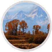 Majestic Backdrop Round Beach Towel