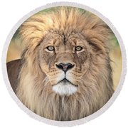 Majestic King Round Beach Towel by Everet Regal