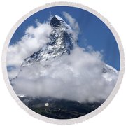 Majestic Mountain  Round Beach Towel