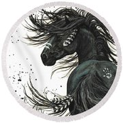 Majestic Spirit Horse 65 Round Beach Towel by AmyLyn Bihrle