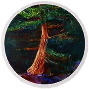 Majestic Pine Round Beach Towel